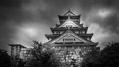 Osaka Castle Japan () (Gerald Ow) Tags: osakacastle geraldow sony a7rii a7r2 fe 2470mm f28 g master japan osaka gm   b w black white bw ilce7rm2
