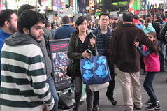 Times Square Mid-November 2016 (zaxouzo) Tags: timessquare street candid fashion people public night nikond90 2016 november