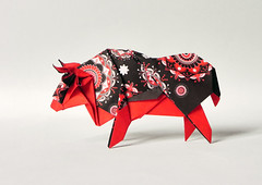 SACRED OX (Origami Roman) Tags: origami ox bull cow paper foldromandiaz