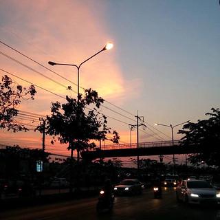Sunset sky from Bangkok