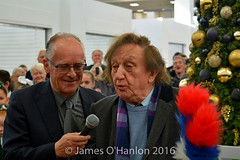 Ken and Deputy Lord Mayor Malcolm Kennedy (James O'Hanlon) Tags: ken dodd kendodd st johns market liverpool opening officially characters singing choir tickling stick malcolmkennedy stjohnsmarket event