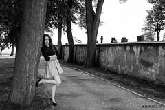 Diana (Jan Liška) Tags: portrait girl outdoor grass woman wall town caucasian brunette teenager brown diana southbohemia skirt