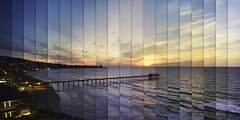 Chromatic Symphony La Jolla Shores (Lee Sie) Tags: timelapse sunset pier west coast pacific ocean seascape lajolla sandiego california beach sky clouds shores day night