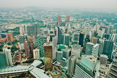 Views from the top. (danialkhilji) Tags: twin towers tower building view vsco landscape buildings canon photography kualalumpur malaysia klcc klcctower travel asia outdoor summer vacations clouds green