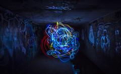colour ball (Greg Rohan) Tags: coloredlights colouredlights traillights nightphotography tunnel photography 2016 d7200