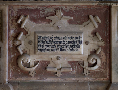 Brooke, Rutland, Church of St. Edmund, king & martyr, monument to Chas. Noel †1619, detail