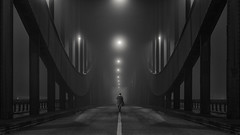 Elbbrcken im Nebel (digital_underground) Tags: fog mist bridge hamburg germany nebel sonyalpha lights night