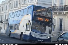 15595 (northwest85) Tags: stagecoach worthing coastliner 700 gx10 hbd 15595 scania alexander dennis adl enviro 400 brighton marine parade bus gx10hbd