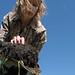 Amy Overstreet holding soil