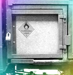 Locked Away - Flammable Liquid .. (John(cardwellpix)) Tags: thursday 8th december 2016 locked box flammable liquid