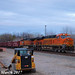 BNSF 8159 Leads WB Ballast Train Wellsville, KS 3-10-17