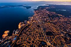 _4LN1375 : Brest de nuit (Brestitude) Tags: city night port harbor brittany bretagne aerial breizh brest nuit ville finistere aérien rade brestitude ©laurentnevo