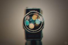 Yashica (-ASD-) Tags: camera blue orange color colour film colors vintage lens colours 8 super retro 50 vignette yashica