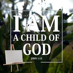 """""""Ik ben een kind van God"""" Canvasdoek (Zalving.nl - De Zalfolie Webwinkel) Tags: poster god jesus canvas identity yeshua proclamation doek christelijk christelijke"""