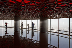 Burj Khalifa - At the Top Sky (Christian Jena) Tags: sky observation dubai top deck khalifa level burj 125 at