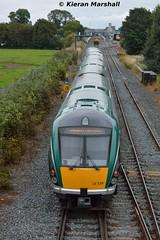 22028 approaches Kildare, 18/9/15 (hurricanemk1c) Tags: irish train rail railway trains railways irishrail rok rotem kildare 2015 icr iarnród 22000 22028 éireann iarnródéireann 4pce 1520portlaoiseheuston