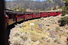 Entering Colorado (RV Bob) Tags: railroad trees fall train gimp steam foliage narrowgauge steamlocomotive cumbresandtoltec cumbresandtoltecrailroad clerestorycoachusstock