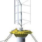 浮体式潮流・風力ハイブリッド発電の写真