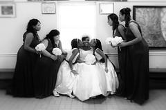 Kiss The Bride Ladies B&W (reminiscentimpressionsimages) Tags: wedding party portrait portraits photography photographer photos candid ceremony photojournalism images reception planning romantic impressions elegant bridal reminiscent