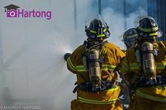 Springfield Township fire department open house. Live fire demonstration