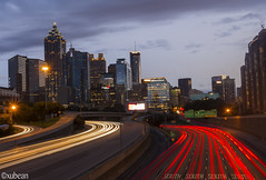 Atlanta Downtown skyline From GA Tech (xubean) Tags: city longexposure atlanta skyline night canon photography downtown cityscape nepaliphotographer