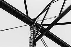 #architecture (thomas officer) Tags: bridge blackandwhite white black architecture structure beam