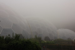 Eden in the Mist (Mike.Dales) Tags: mist fog cornwall edenproject eerie biomes staustell