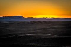 Sunset over the Wyoming desert.