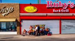 Ruby's (veyoung52) Tags: newyork brooklyn coneyisland boardwalk amusementpark tradition rubys hdr oldmen barandgrill barngrill