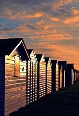 Last light of the day. (R Rabi) Tags: sunset colour beachhuts poole hamworthy hamworthypark