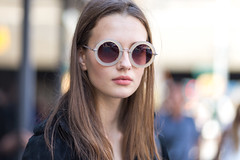 ([ raymond ]) Tags: street portrait beauty hair glasses frames model long bokeh gorgeous style shades pout brunette pouty img3298