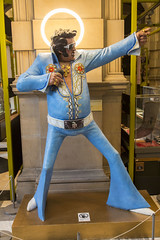 An Elvis Sighting in Glasgow (Jill Clardy) Tags: uk blue sculpture art museum scotland glasgow elvis halo sean read suit installation presley kelvingrove sculptor returntosender saintelvis 4b4a2890