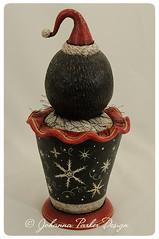 Iggy-Frost-Johanna-Parker-Back (Johanna Parker Design) Tags: christmas original sculpture holiday penguin folkart oneofakind decoration whimsical candycontainer silentauction johannaparker
