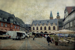 the age of the customer (silviaON) Tags: city germany marketplace harz textured goslar flypaper kerstinfrank