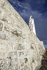 St Mary's lighthouse detail (loftylion9) Tags: storm sunrise gales northumberland bamburgh holyisland lindisfarne stmarys blyth amble stmaryslighthouse dunstanburghcastle embleton coquetisland blythbeach lowhauxley bambirghcastle