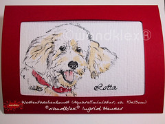 Hund Lotta (wandklex Ingrid Heuser freischaffende Künstlerin) Tags: ingrid watercolor foto etsy comission malerei heuser dawanda auftragsmalerei wandklex