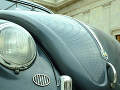 Light and Bonnet (failing_angel) Tags: london volkswagen thirdreich type1 volkswagenbeetle ferdinandporsche 250115 volkswagenbeetletype1 germanymemoriesofanationexihibition