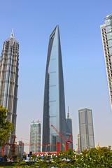 Shanghai World Financial Center (lukedrich_photography) Tags: china canon asia shanghai prc pudong eastasia peoplesrepublicofchina kohnpedersenfox    shanghaiworldfinancialcenter  t1i canont1i moribuildingcompany