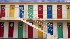 42-19072139 (Ehab A.Saleh) Tags: door color building window architecture circle exterior nobody stairway cabana railing multicolored shape rectangle primarycolors parallelogram geometricshape oculuswindow