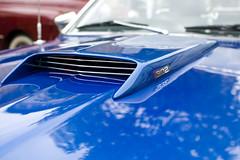 (Wictor Madsen) Tags: blue detail macro ford car norway 35mm muscle mustang scoop 302 d40