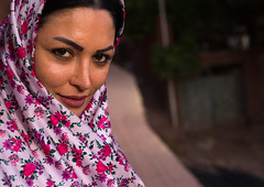 portrait of an iranian woman wearing traditional floreal chador in zoroastrian village, Isfahan Province, Abyaneh, Iran (Eric Lafforgue) Tags: flowers portrait people woman tourism wearing horizontal female clothing women village veil dress adult iran muslim traditional headscarf middleeast headshot clothes covered shia iranian tradition cloth aging abyaneh oneperson chador traditionalclothing 20sadult midadultwoman persiangulfstates abiyaneh floreal onewomanonly lookingatcamera   colourimage 1people  iro isfahanprovince redvillage  westernasia  16531 natanzcounty