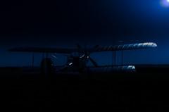 Royal Aircraft Factory R.E.8 (vipmig) Tags: re8 ww1 aircraft aviationart aviationphotography aviationhistory aviator airpower biplane militaryaviation militaryhistory night nightphotography darkness moonlight