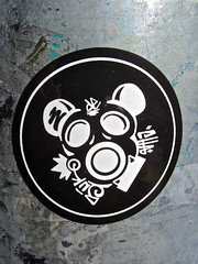 Gas Mask Mouse, San Francisco, CA (Robby Virus) Tags: sanfrancisco california sf mouse sticker slap gas mask suk 5uk cha