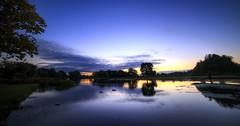 Bushy Park sunrise (BitRogue) Tags: bushypark nikon d800 morning autumn capturenx2 sunrise dawn silhouette reflections 1635mm hdr luminance