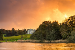 Fire in the sky (Pastel Frames Photography) Tags: castleblayney lake mucko ireland hope castle sunset colours autumn fire sky clouds water monaghan
