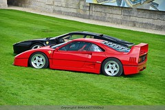 Ferrari F40 (MANETTINO60) Tags: ferrari f40 v8 turbo icone 1988 red rouge maranello sport sportive supercar exterieur chateau chantilly roues race course racing