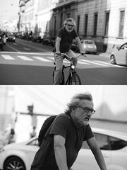[La Mia Citt][Pedala] (Urca) Tags: milano italia 2016 bicicletta pedalare ciclista ritrattostradale portrait dittico nikondigitale mir bike bicycle biancoenero blackandwhite bn bw 89856