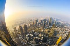 The amazing view from Burj Khalifa (wolnerchris) Tags: burj khalifa dubai downtown amazing view canon eos 1dx city cityscape ef 15 mm fisheye f28 christopher wölnerhanssen swedish