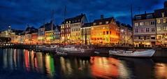 Blue hour in Nyhavn - Copenhagen, Denmark (Christian_from_Berlin) Tags: copenhagen denmark nyhavn waterfront canal europe blue hour woodenships