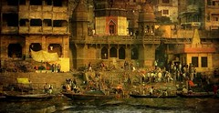 INDIEN, india, Varanasi (Benares) frhmorgends  entlang der Ghats , 14484/7434 (roba66) Tags: varanasibenares indien indiennord asien asia india inde northernindia urlaub reisen travel explore voyages visit tourism roba66 city capital stadt cityscape building architektur architecture arquitetura monument bau fassade faade platz places historie history historic historical geschichte benares varanasi ganges ganga ghat pilgerstadt pilger hindu hindui menschen people indianlife indianscene brauchtum tradition kultur culture indiansequence hinduismus textur texture effecte